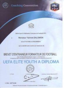 Licence coach football diplome YOUTH UEFA A