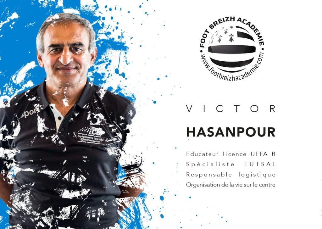 Victor Hasanpour Spécialiste Futsal et responsable logistique