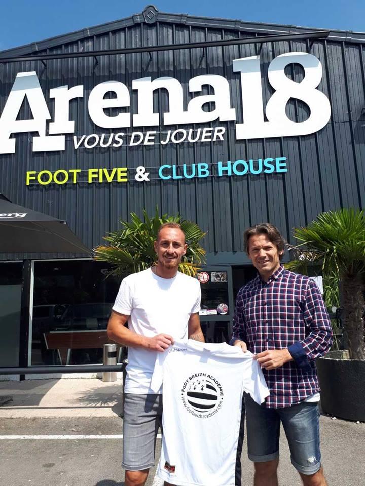 e Parrain du Sport-Etudes FOOT BREIZH ACADEMIE 2018-2019 sera Gaétan Courtet