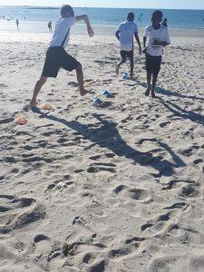 plage sable entrainement
