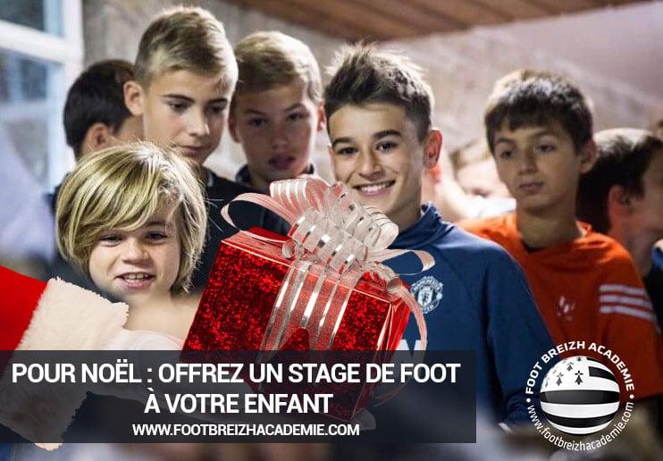 cadeau noel stage foot