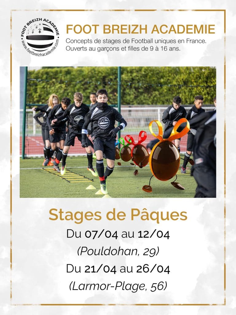 stage football paques vacances scolaire