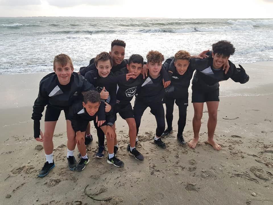 sport etude à la plage
