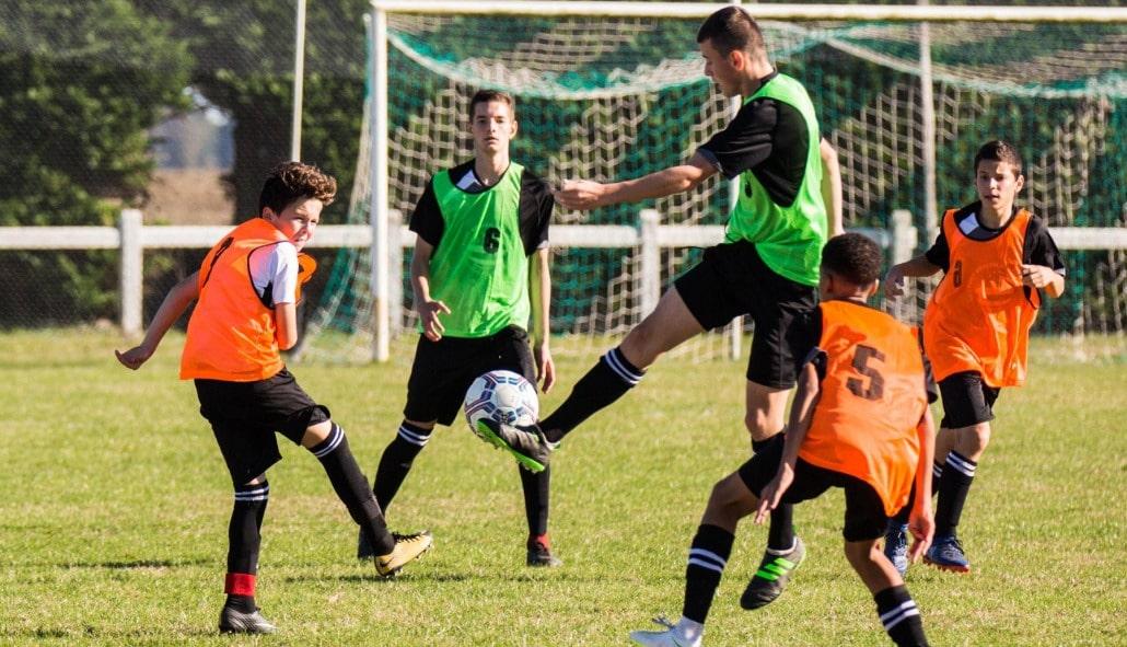 actions stage toussaint football vacances scolaire groupe