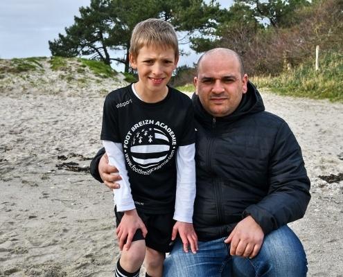abdusami Kerkar père et fils stage foot
