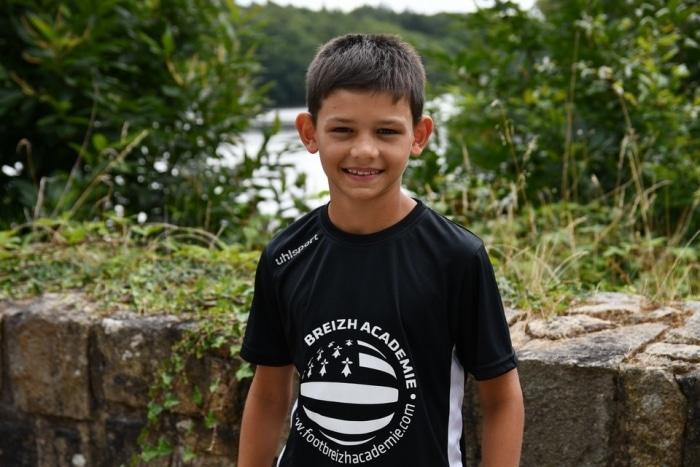Un jeune gardien de but monégasque stagiaire à la Foot Breizh Académie