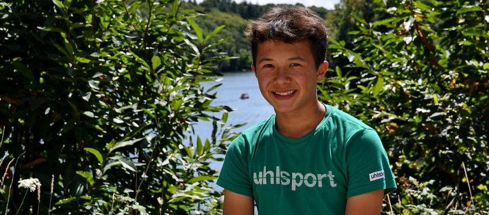 Jeune stagiaire gardien de but belge